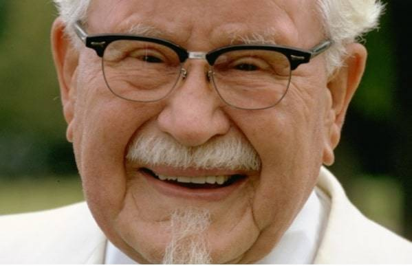 Colonel Sanders becomes one of the startup entrepreneurs when he sees his first Social Security Check